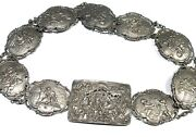 Sterling Silver Vintage Antique Germany Made Belt 29and039and039
