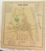 1868 Montgomery County Ny Fort Plain Antique Atlas Map