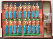 Vtg. J, Pressman Cardboard Soldiers With Repeating Cannon Toy