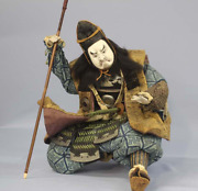 Japanese Tradition Antique Samurai Warrior Doll Edo Period Armor Sword 武者 加藤清正 Y