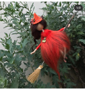Red Needle Felted Handmade Fairy Creative Present For Christmas Or Birthday