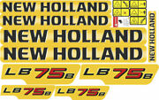 New Holland Lb75b Backhoe Decals / Stickers Compatible Complete Set / Kit