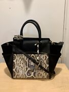 Reed Krakoff Atlantique Large Leather Suede And Snake Skin Rare Barely Used