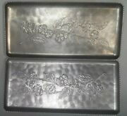 Vintage 1950and039s Pewter/aluminum Trays 5