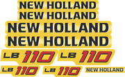New Holland Lb110 Backhoe Decals / Stickers Compatible Complete Set / Kit