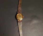 14k Gold Italy Vintage Analog Wind Up Technos Deluxe Gold Watch-29.3 Grams