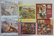 Vintage Lot Of 6 Misc. 1,000, 750 And 500 Piece Puzzles B19