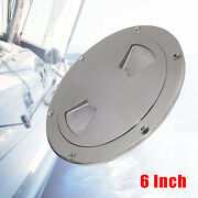 6 Inch White Round Boat Marine Out Deck Plate Inspection Access Hatch Cover Ss