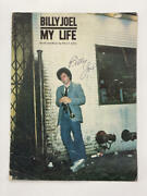 Billy Joel Signed Autograph My Life Sheet Music Book - Legend Very Rare Real