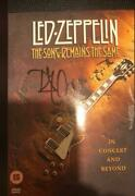 Robert Plant Signed Autograph Led Zeppelin - The Songs Remain The Same Dvd Real