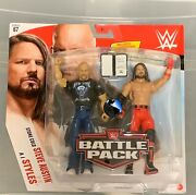 Steve Austin And Aj Styles Wwe Battle Pack Series 76 Championship Contract