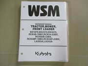 New Old Stock Kubota Tractor, Front Mower, Front Loader Bx/rc/la Models-manuals