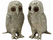 Sterling Silver And039owland039 Pepperettes - Vintage