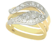 Vintage 0.93ct Diamond And 14ct Yellow Gold Snake Ring