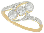 Antique 0.62ct Diamond And 18ct Yellow Gold Trilogy Ring Circa 1920