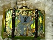 Vintage Australia Suitcase Glass Ornament - Nordstrom At Home, Made In Poland