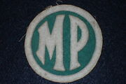 Wwi Us Army Military Police Mp Shoulder Patch Ssi 'spalding' Mfg. - Exceptional