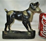 Antique Terrier Creations Company Usa Cast Iron Whippet Dog Home Statue Doorstop