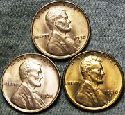 1930-s 1932 1938-s Lincoln Cent Wheat Penny ---- Gem Bu++ Lot ---- H787