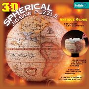 3d Spherical Antique Globe Jigsaw Puzzle Buffalo Games Good Condition