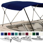 Bimini Top Boat Cover 3 Bow 72l 54h 91-96w With Boot And Rear Support Poles