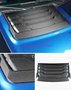 Real Carbon Fiber Hood Air Vent Outlet Cover Trim Decor For Ford F150 2017-2020