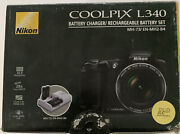 Nikon Coolpix L340 With Battery Charger/rechargable Battery Set