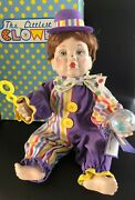 Knowles - The Littlest Clowns Bubbles Clown Doll By Mary Tretter W/ Coa And Iob