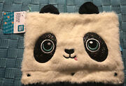 Pen+gear 3-ring Soft Plush Panda Binder Pencil Pouch W/ Glitter Eyes And Erasers