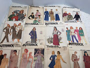 Vintage Lot Sewing Patterns 70s And 80s Women's Mccalls And Butterick And Simplicity