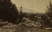 Rare Bennington Vt Stereoview Monument Ave Steeple 1st Cong Ch Cupolo Court Hse