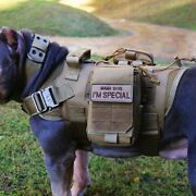 Tactical Dog Vest Molle Harness Military Training K9 Dog Service Vest And Pouch