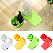 Table Cup Holder Water Cup Holder Clip Clamp Storage Rack Stand Home Office