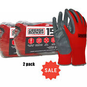 2 Pack Grease Monkey Nitrile-coated Work Gloves 15 Pk. Each Fast Shipping