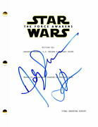 Andy Serkis, Jj Abrams Signed Autograph Star Wars The Force Awakens Movie Script