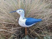 A Vintage Style Wooden Hand Carved Figure Decoy / Sea Bird / Wooden Hand Made.