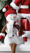Pottery Barn Kids Christmas Snowman Sitting Hearth Decor Sold Out Nwot