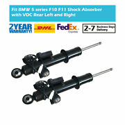 2x Rear Left Right Gas Shock Absorbers Vdc Edc For Bmw 5-series F10 2wd Xdrive