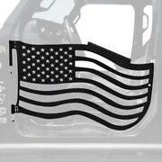 For Jeep Wrangler 18-20 Trail Door Kit Premium American Flag Style Texturized