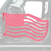 For Jeep Wrangler 18-20 Premium American Flag Style Pinky Front Trail Door Kit