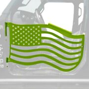 For Jeep Gladiator 20 Trail Door Kit Premium American Flag Style Gecko Green