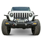 For Jeep Wrangler 18-20 Bumper Trailchaser Mid Width Textured Black Front Winch