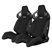 Alpha-x Series Sport Seats Black Polo Fabric W Black Piping And Gray Stitching