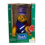 Telco Vtg Nwt, Pooh With Piglet, Rises From Under Hat, Animated Figure