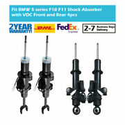 4x Front Rear Left Right Gas Shock Absorbers Vdc Edc For Bmw 5 Series F10 2wd