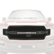 For Ford F-150 18-20 Main Grille 1-pc Scorpion Series Tread Design Flat Black