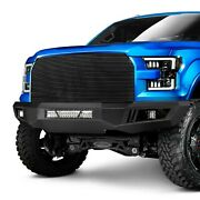For Ram 3500 11-18 Black Horse Armour Full Width Black Front Hd Bumper