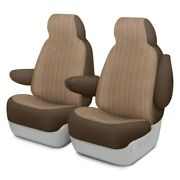 For Ford Escape 18-19 Duramax Tweed 1st Row Brown Custom Seat Covers