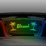 For Porsche Boxster 97-04 Multicolor Wind Deflector W Blessed And Palm Trees Logo