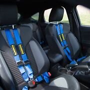 For Ford Fiesta 17 Schroth Quickfit Pro Passenger Side W Racing Patch Blue